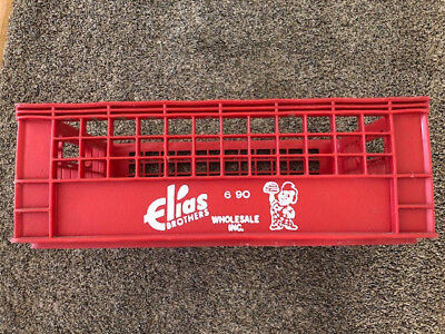 Vintage Elias Brothers Food Ad Big Boy Red Hard Plastic Box Shipping Crate