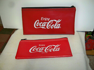 Coca Cola Red  Money Bags  - 1 Large and 1 Small