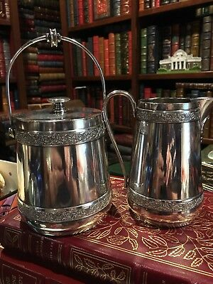 Antique MIDDLETOWN PLATE CO. Silverplate Creamer and sugar bowl/with lid