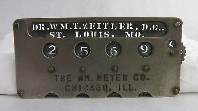 Small dial type adder, adding machine, by The Wm. Meyer Co., Chicago, IL.