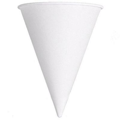 Solo Foodservice Cone Water Cups, Cold, Paper, 4 oz, White, 200/Bag, 25...