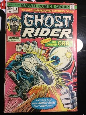 Ghost Rider 14 Vf/nm 9.0 High Grade Marvel Bronze George Tuska Colletta 1975 Nr