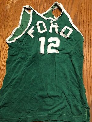 Vtg General Athletic Products Ford Motors Basketball Jersey Sz 40 1940S 50S Rare