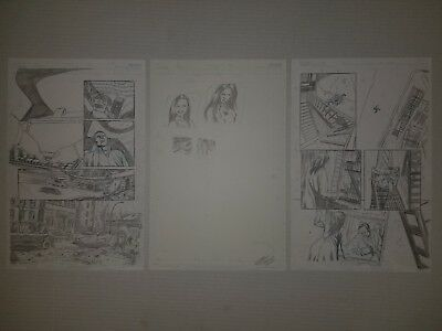 3x Zenescope Original Comic Art Page LOT Grimm Fairy Tales Anthony Spay Risque