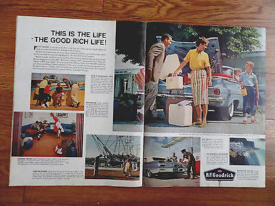 1960 B F Goodrich Tire Ad Chevrolet Chrysler Ford 1960 Schlitz Beer Ad Picnic