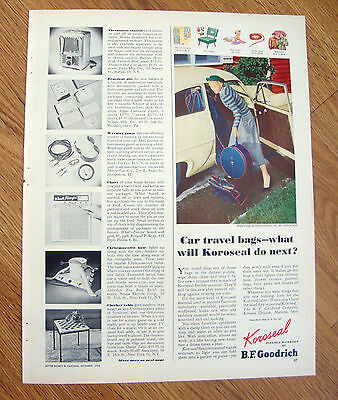 1952 B F Goodrich Ad  Car Travel Bags    Henry J  ?