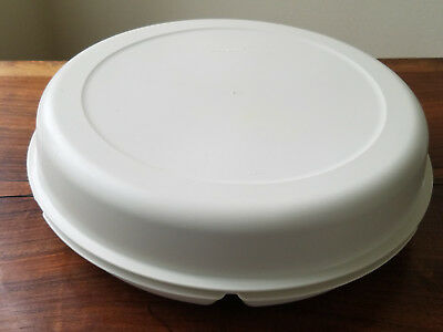 Tupperware Large Chip Dip Relish Vegetable Fruit Divided Party Tray w/ Lid