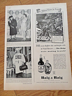 1939 Haig & Haig Whiskey Ad 1775 Paul Revere