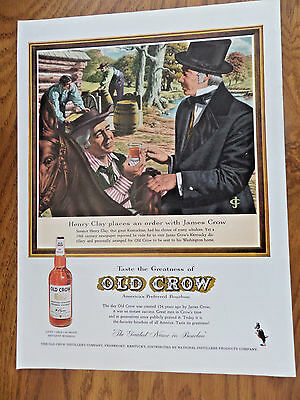 1959 Old Crow Whiskey Ad Henry Clay Kentuckian 1959 Coke Coca Cola Ad Refreshed