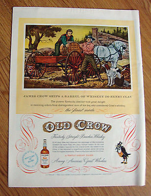 1951 Old Crow Whiskey Ad Ships Barrel to Henry Clay 1951 GM General Motors Ad