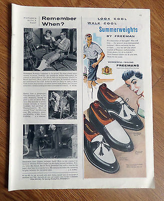 1956 Freemans Shoes Ad  Look Cool Walk Cool Summerweights by Freeman
