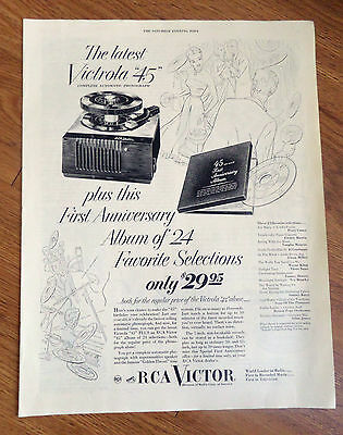 1950 RCA Victor 45 Phonographs Ad