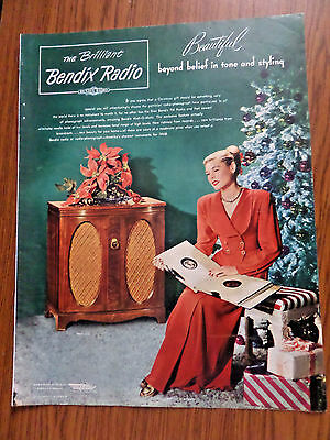 1947 Bendix Radio Phonograph for 1948 Ad  Beyond Belief in tone & Styling