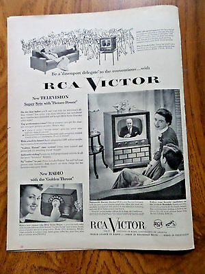 1952 RCA Victor TV Television Ad Be a Davenport Delegate to the Convention