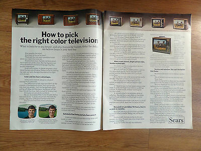 1971 Sears TV Television Ad  How to Pick the Right Color Television 9 Models