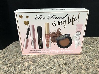 Too Faced Is My Life- 5 Piece Makeup Set! New!