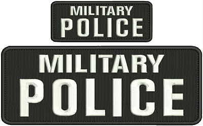 MILITARY POLICE TRAFFIC Embroidery Patches  4x10  and 2x5 hook on back multicao