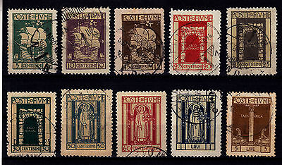 Fiume 1923 - Sc# 172 - 180 + 183 Used