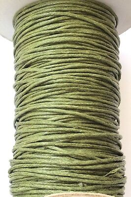 10 Yards Genuine Olive Natural Round Cotton Waxed Cord-Jewelry Supplies