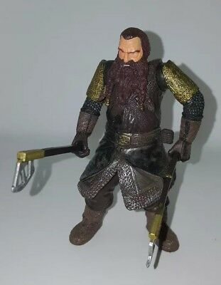 Toybiz Lord Of The Rings LOTR Gimli With Battle Axe Swinging Action