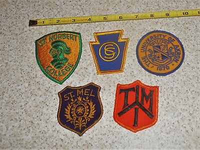 Lot of 5 DIF Vintage Military Training Schools Colleges Military School Patches