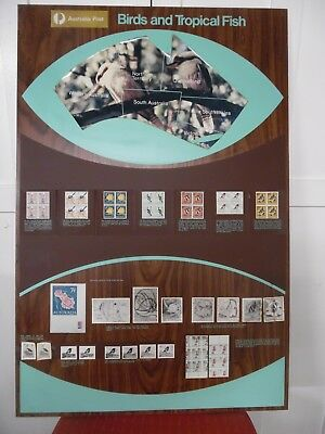 Rare Aust Post Framed Stamp Promotion Posters With Stamps And Descriptions 4 Off