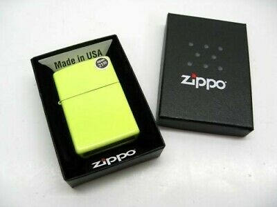 Zippo 28887 Full Size Neon Yellow Finish Classic Windproof Lighter