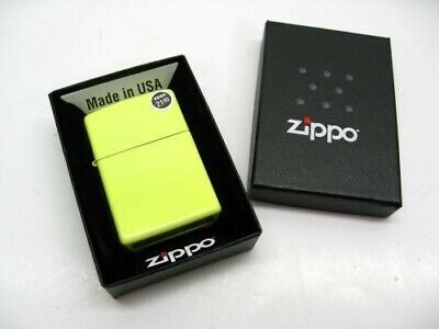 Zippo Full Size Neon Yellow Finish Classic Windproof Lighter 28887