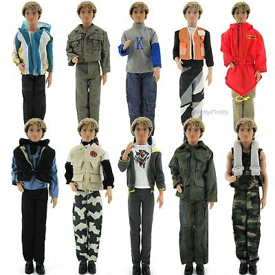 Random 1 Set Outfit Jacket Trousers Coats Daily Clothes For Barbie Ken Doll Cool