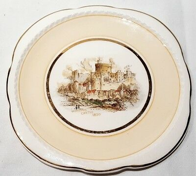 Vintage Swinnerton's Majestic Vellum Windsor Castle View Small Plate c1946-52