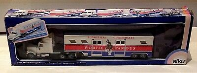 Vintage Siku Budweiser Clydesdale Horse Transporter Truck-Made In West Germany