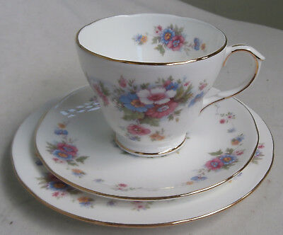 "Vintage Duchess Porcelain High Tea Cup Saucer Plate Trio~""rosemary"""