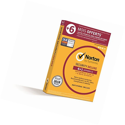 Norton Security Deluxe 2018 | 4+1 appareils | 1 an + 6 mois | PC/Mac/iOS/Android