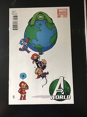 AVENGERS WORLD # 1 Marvel Now! Skottie Young Baby Variant 2013