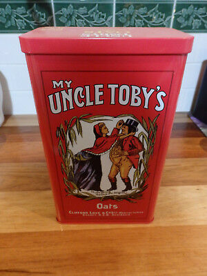 Collectable Large Uncle Tobys Oats Cereal Tin