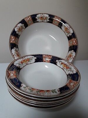 VINTAGE  (early 1900's)   WOOD & SONS  FRUIT SET  IN  'NAPOLI'  DESIGN