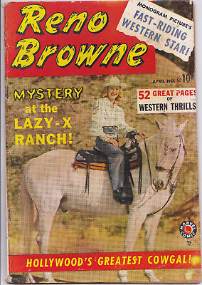 RENO BROWNE #50 1950 about VG condition SCARCE MARVEL Western Comic!!!