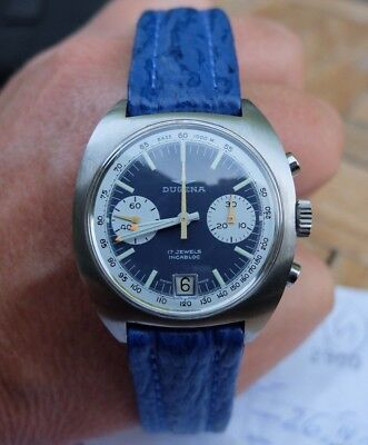 Early 1970's DUGENA Chronograph Cal. 7734 Clockwork reconditioned,