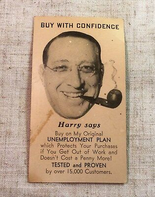 "Vtg 30's/40's Business card United Music Store Toledo Ohio ""Harry Says""  L.Gray"