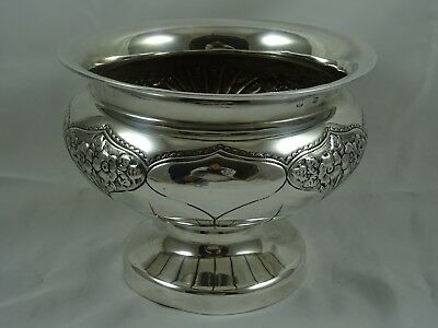 ATTRACTIVE EDWARDIAN solid silver ROSE BOWL, 1905, 496gm