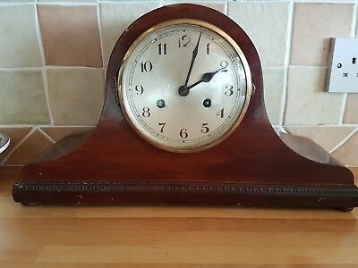 Antique mantle  clock in working order.  Napoleon hat