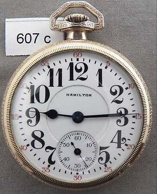Hamilton 21 Jewel Railroad Pocket Watch, Model 992