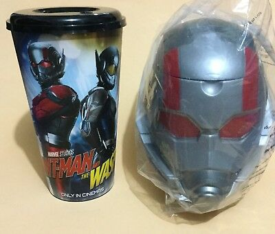 Ant Man And The Wasp  Popcorn Bucket Tub Bust Head With Cup Thai Promo Marvel