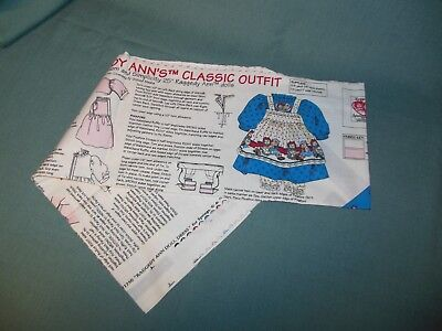 "25"" Raggedy Ann's Classic Outfit Panel To Cut & Sew  (Daisy Kingdom)"