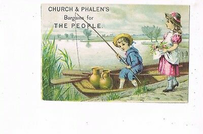 VICTORIAN ADVERTISING / TRADE Card    CHURCH & PHALEN'S