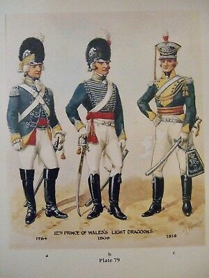 Military Print- 12Th Prince Of Wales's Light Dragoons  By Richard Simkin