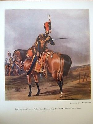 Vintage Military Print- 10Th Prince Of Wales Own Hussars 1844