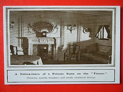 R M S Titanic Postcard -'a Sitting Room Of A Private Suite On The Titanic