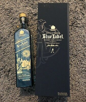 Johnnie Walker Blue Label New York Limited Edition Box And Bottle 750ml