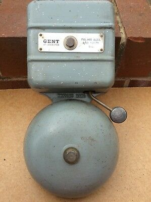 Vintage Cast Iron Fire Alarm Bell By Gent Of Leicester